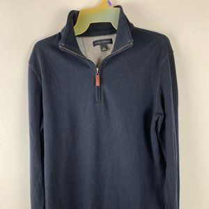 Banana Republic Mens Pull Over Top Size Small Navy